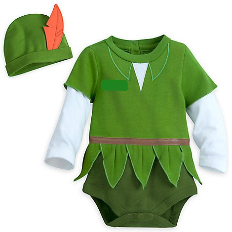 Peter Pan Disney Costumes (Disney - Peter Pan Costume Bodysuit for Baby - Size 18-24 months)