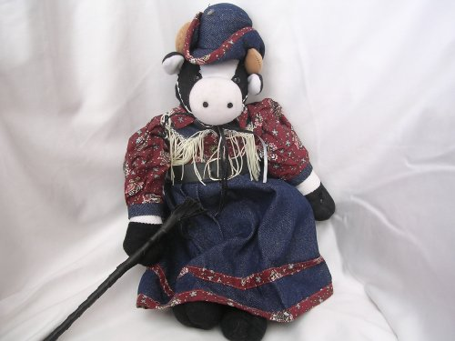 (Cowgirl Cow Plush Toy 17