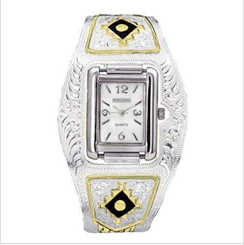 Montana Silversmiths Women's WATCH250 Classic Analog Aztec Bracelet Watch