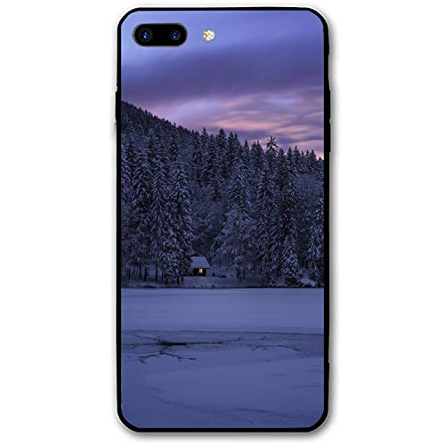 Fusine Italy Lake Trees Structure Phone Case Compatible for iPhone 7/8 Plus,Luxury Ultr-Thin PC Back Protect Case Compatible for iPhone 7/8 ()