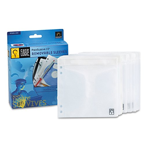 - Case Logic PSR-100 100 Capacity Double Sided ProSleeve II
