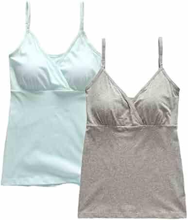 f541fb87f2abc Lataly Women's Motherhood Nursing Cami Tank Tops Maternity Clothes For  Pregnancy