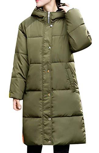 Chemine Stepp Femme Longues Hiver Grande Taille Coat Mode paissir Elgante Manches Longues Chaud De Haute Qualit breal Parka Hiver Quilting Blouson  Capuchon Grn