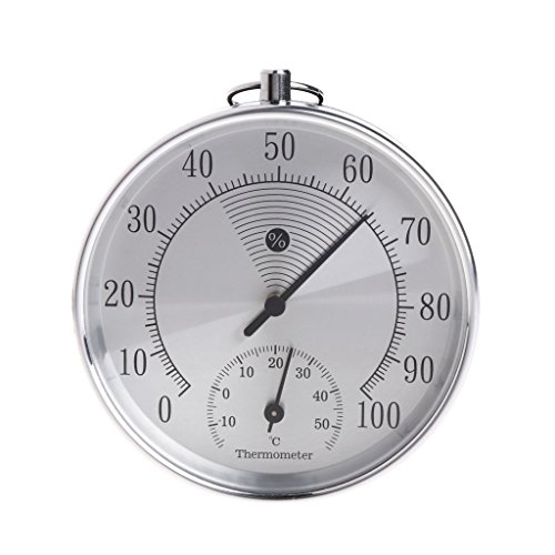 Lighted Outdoor Clock Thermometer in US - 8