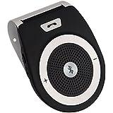 [version française] Kit Mains Libres pour Voiture Bluetooth 4.1 Allumage Automatique par capteur de mouvement intégré,Support du GPS, Musique, Handsfree Bluetooth Car Kit Wireless SpeakerPhone for the