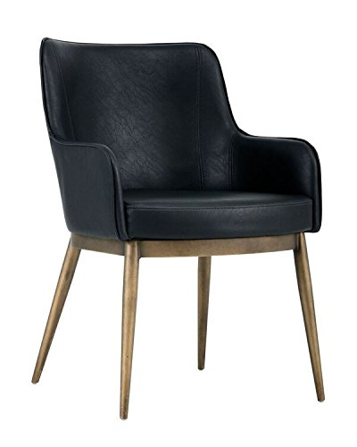 Sunpan Modern 102355 Franklin Dining Chair Black Black