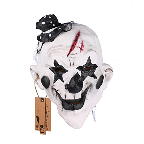 [YUFENG Scary Clown Mask for Adults for Halloween Party] (Halloween Clown Masks)