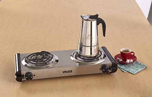 IMUSA USA B120-22061M Stainless Steel Stovetop Espresso Coffeemaker 4-Cup, Silver by Imusa (Image #4)
