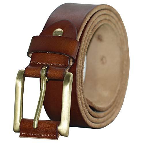 PAZARO Men's Soft Top Grain 100% Leather Belt
