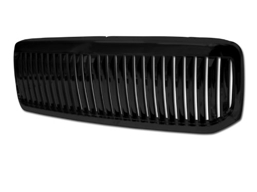 Autobotusa Black Finished Vertical Front Hood Bumper Grill Grille Cover for 1999-2004 Ford F250 / F350 / F450 / F550 Excursion Superduty ()