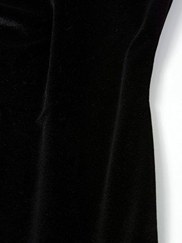Charles Richards Cr Retour Robe Cami Midi Moulante Noire De Velours Col Bénitier Féminin Ouvert