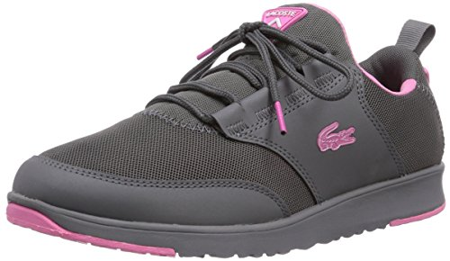 de RES IGHT PNK Lacoste zapatilla 1C9 Grau gris deportiva GRY mujer lona L XHU4qFwR