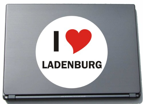 I Love Aufkleber Decal Sticker Laptopaufkleber Laptopskin 210 Mm Mit Stadtname Ladenburg