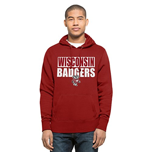 Badger V-neck Pullover (NCAA Wisconsin Badgers Men's Headline Pullover Hoodie, X-Large, Red)