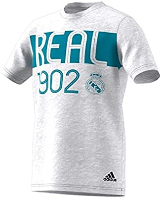 adidas Youth Boys Real Madrid Camiseta Blanco/Gris/Vivid Azul XL ...