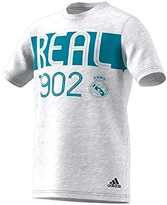 adidas Youth Boys Real Madrid Camiseta Blanco/Gris/Vivid Azul XL ...