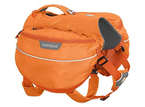 Pack Harness - Ruffwear Approach Full-Day Hiking Pack for Dogs, Orange Poppy (2017), Medium