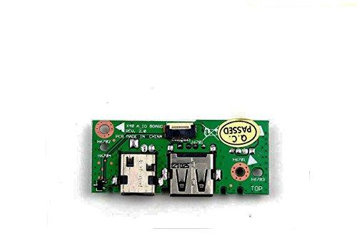 YDLan Delanse New VGA LAN DC Power Jack USB IN Board For ASUS X401 X 401A X301A X301 X 501A X501A-SI30302Q X501A-SI30403X X501A-WH X501A-HPD121H X501A-BSPDN22 X 501A-XX05 60-NLOIO1001-X01 32XJ1IB0010 by YDLan