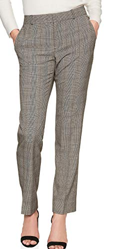 Banana Republic Women's Ryan Glen Plaid Suit Pant, Black/Grey (2)