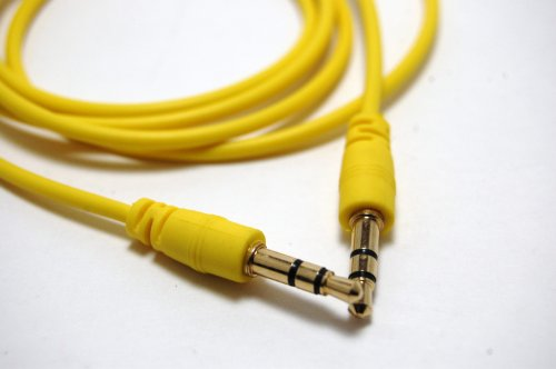 Yellow 3ft 3.5mm Auxiliary (AUX) Audio Jack cable