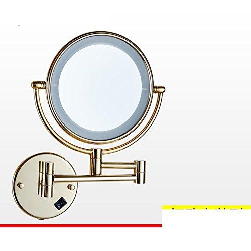 YAOHAOHAO Foldable IlluminatedLEDMirror/bath rooms, mirrors telescope beauty/bath rooms wall-sided magnifying mirror-B by YAOHAOHAO