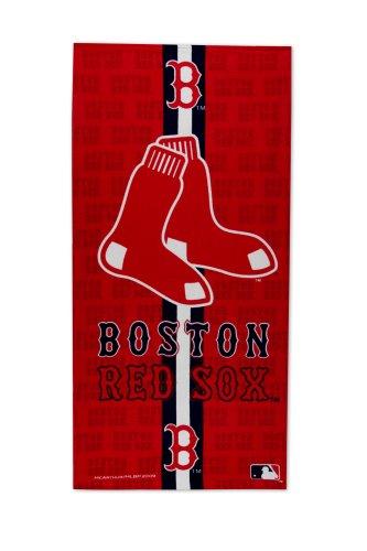 boston red sox fiber reactive beach towel - Boston Red Sox Bath Accessories