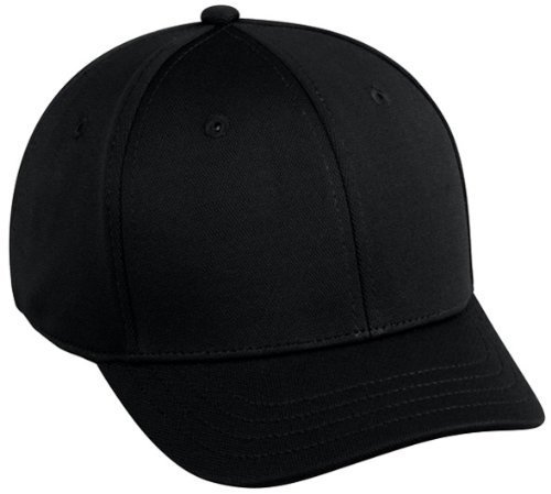Baseball Home Plate Umpires ProFlex Fitted Cap BLACK (MEDIUM/LARGE)