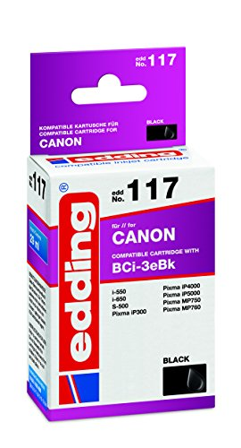 - Edding 18-117 EDD-117 Ink Cartridge 1 x Black Suitable for Canon BCi-3eBk