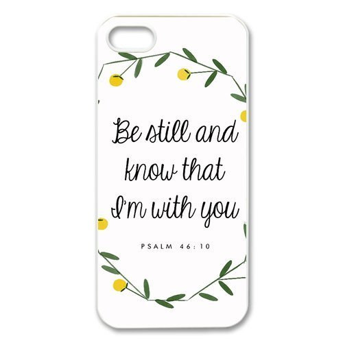 [diycover iPhone 5 5S Case - Christian Theme - Psalm 46:10 - Best Durable Cover Case] (Best Friend Costumes Ideas Diy)