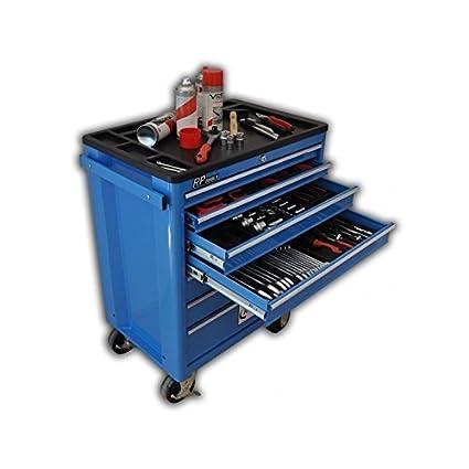 Carrito organizador de herramientas con ruedas y 7 cajones, para taller, de RP-