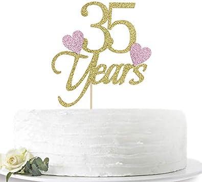 35 Anniversario Matrimonio.Decorazione Per Torta Per 35 Compleanno O 35 Anniversario Di