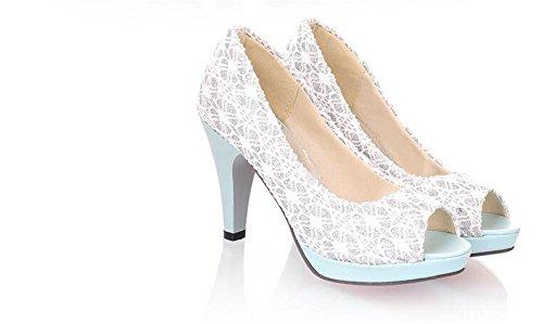 Stiletto High Fashion Women Dressy party pumps Heel Shoes Court work Blue shoes Ua5w5nq7d