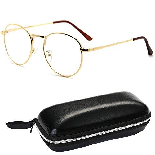 Retro Oval Classic Metal Frame Clear Lens Round Circle Eye Glasses EyeWear - Shaped Eyeglass Oval Frames