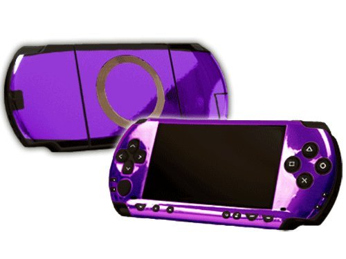 Sony PlayStation Portable 1000 (PSP) Skin - NEW - PURPLE CHROME MIRROR system skins faceplate decal mod