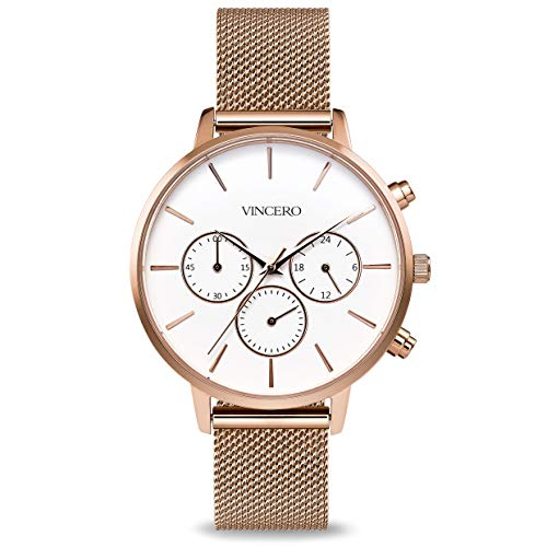 Vincero The Kleio Mesh Dial Stainless Steel Ladies Watch RG-MSH-L04
