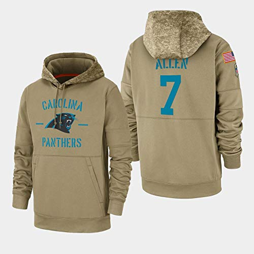 G-III Sports Men's Carolina Panthers #7 Kyle Allen 2019 Salute to Service Sideline Therma Pullover Hoodie Men M (Best Of Hoodie Allen)