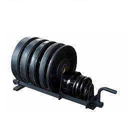 York Barbell 69041 Full Set Horizontal Plate Rack, Black