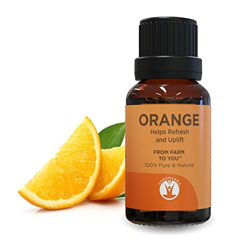 GuruNanda Orange Essential Oil - Aromatherapy - GCMS Tested & Verified 100% Pure Essential Oils - Undiluted - Therapeutic Grade - 15 ml
