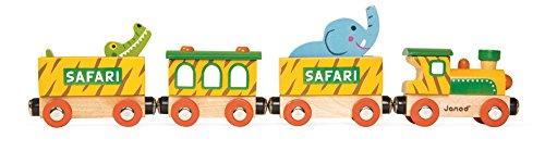 Janod 08541 - Story - Safarizug aus Holz, magnetisch, 6 Teile