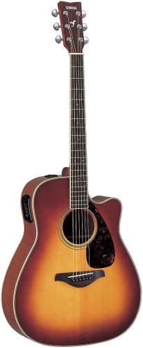 Yamaha FGX720SC Solid Top Acoustic-Electric Guitar - Mahogany, Brown Sunburst