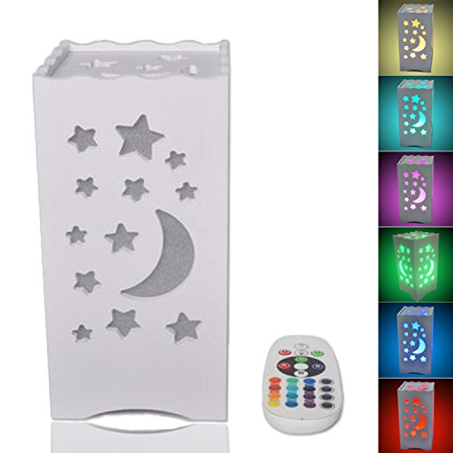 Stars and moon led bedside lamp remote control rgb 256 color stars and moon led bedside lamp remote control rgb 256 color changing night light with mood aloadofball Image collections