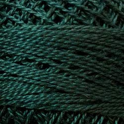 (Valdani Perle Cotton Size ~12~ Embroidery Thread, 109 Yard Ball - 833 Spruce Green Dark)