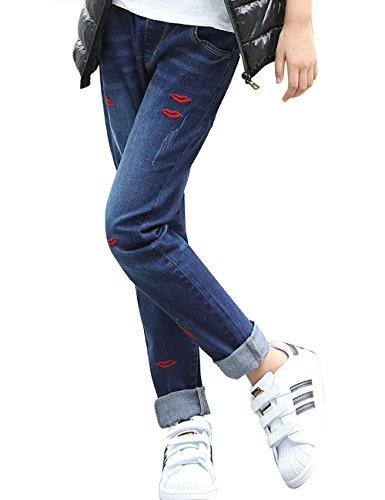 Vaqueros Denim Azul Niñas Vaqueros Piedra Lavado Casual 518 Jeans Menschwear Algodón ZPzwqSSx