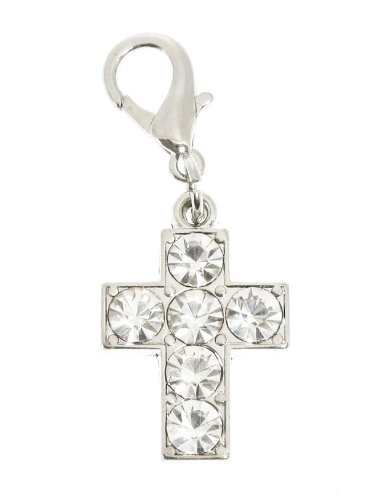 UrbanPup Swarovski Crystal Cross Dog Collar Charm