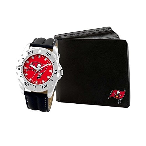 Tampa Bay Buccaneers Watch and Wallet Gift (Buccaneers Sport Watch)