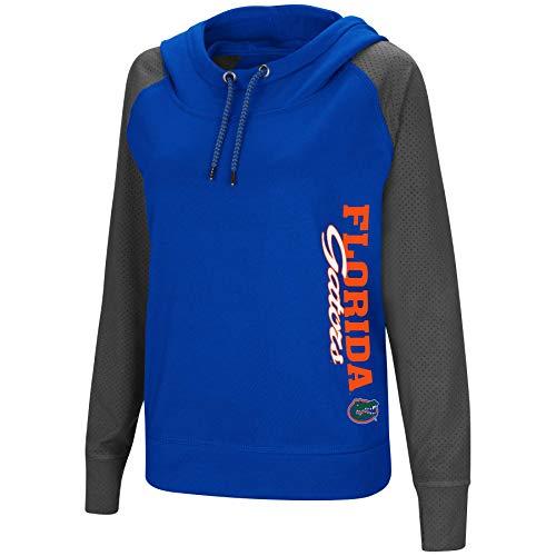 Ncaa Gators Florida Spring ( Colosseum Women's NCAA-TNT Funnel Neck Hoodie Pullover Sweatshirt-Florida Gators-Royal-Small )