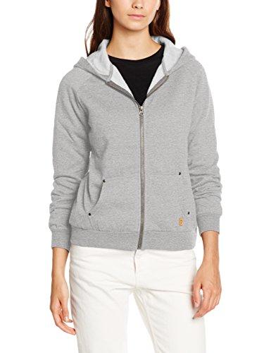 Desires Sweatshirt-Aby-a Zip Hood, Sudadera para Mujer Gris Claro