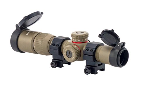Monstrum Tactical G2 1-4x24 First Focal Plane (FFP) Rifle Scope with Illuminated BDC Reticle (Flat Dark Earth)