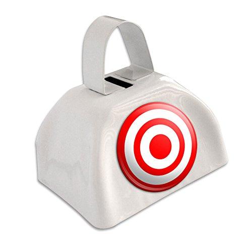 Target Bullseye White Cowbell Cow Bell