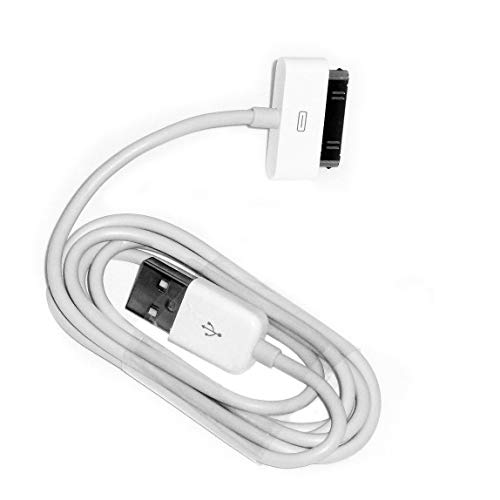EVERMARKET 3 Feet Replacement White USB Charger Data Sync Cable for Apple iPhone 4, 4s, 3G, 3GS, 2G, iPad 1/2/3 iPod touch, iPod Nano (1 Pack)